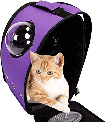 BOSON Pet Carrier Backpack Traveler Bubble Breathable Outdoor Travel Bag for Cat Dog Puppy Kitten