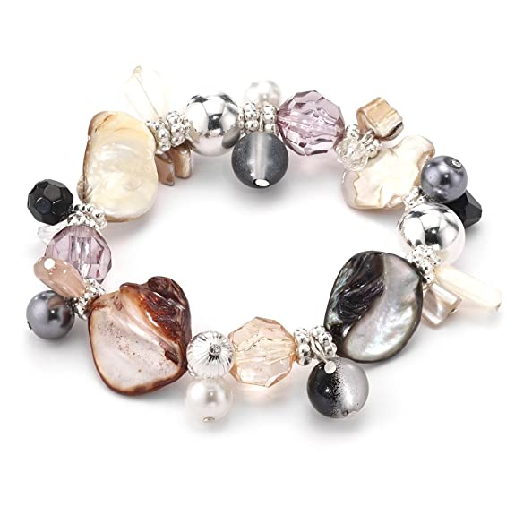 LookLove Sea Worthy Genuine Shell Stretch Bracelet