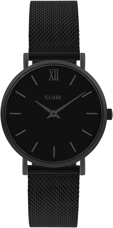 CLUSE Reloj Analógico para Mujer de Cuarzo con Correa en Acero Inoxidable CW0101203012