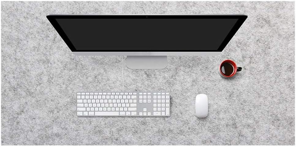 Weelth Alfombrilla de Rat/ón 900x430mm Alfombrilla de Escritorio de Oficina Estera de Escritorio Antideslizante e Impermeable Cuero PU Doble Cara