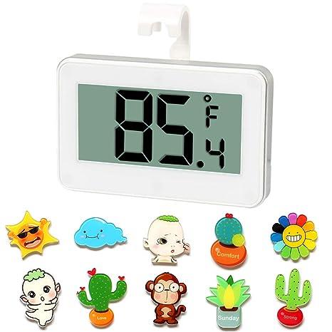 Termómetro digital para refrigerador con números grandes con ...