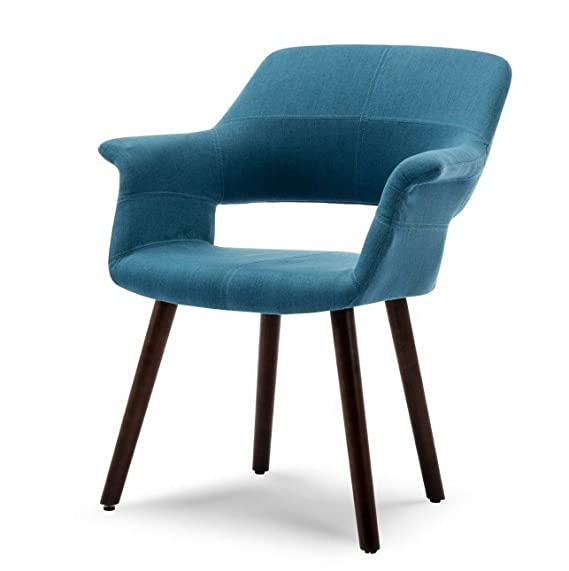 Amazon.com: Hebel Mid-Century Modern Accent Chair Linen ...