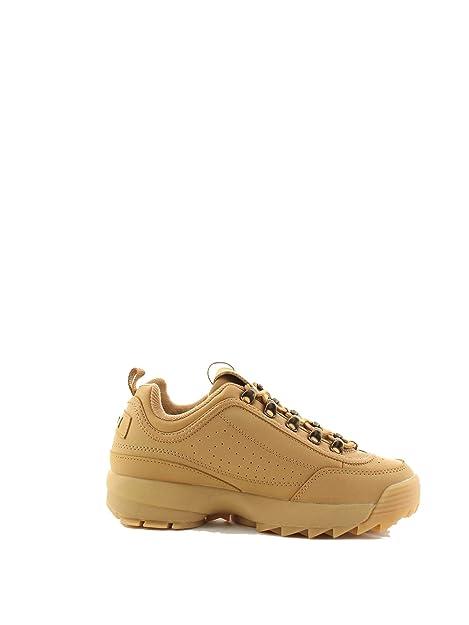 Fila Mujer 1010535SAND Beige Poliuretano Zapatillas: Amazon.es: Zapatos y complementos