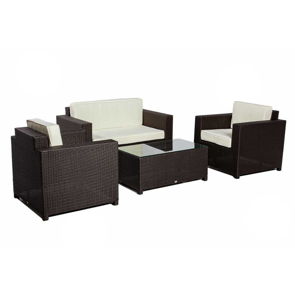 gartenm bel set barbados aus polyrattan 4 teilig pharao24 g nstig bestellen. Black Bedroom Furniture Sets. Home Design Ideas