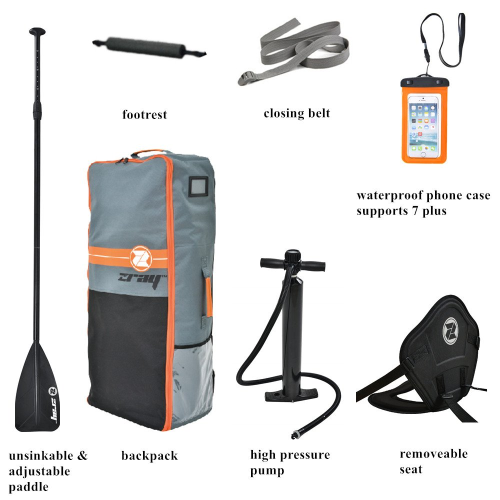 Zray Paddle Board 9'10'' Inflatable SUP Package (Board, Pump, Paddle and Backpack bag), 6'' Thickness by Zray (Image #3)