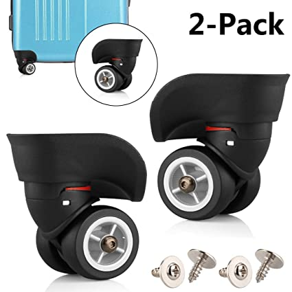 c6dbf8a6e623 TuhooMall Luggage Wheels Replacement, 360 Degree Swivel Caster Wheel  Outdoor Luggage Travel Suitcase Replacement Wheel for Luggage Suitcase  Trolley(1 ...