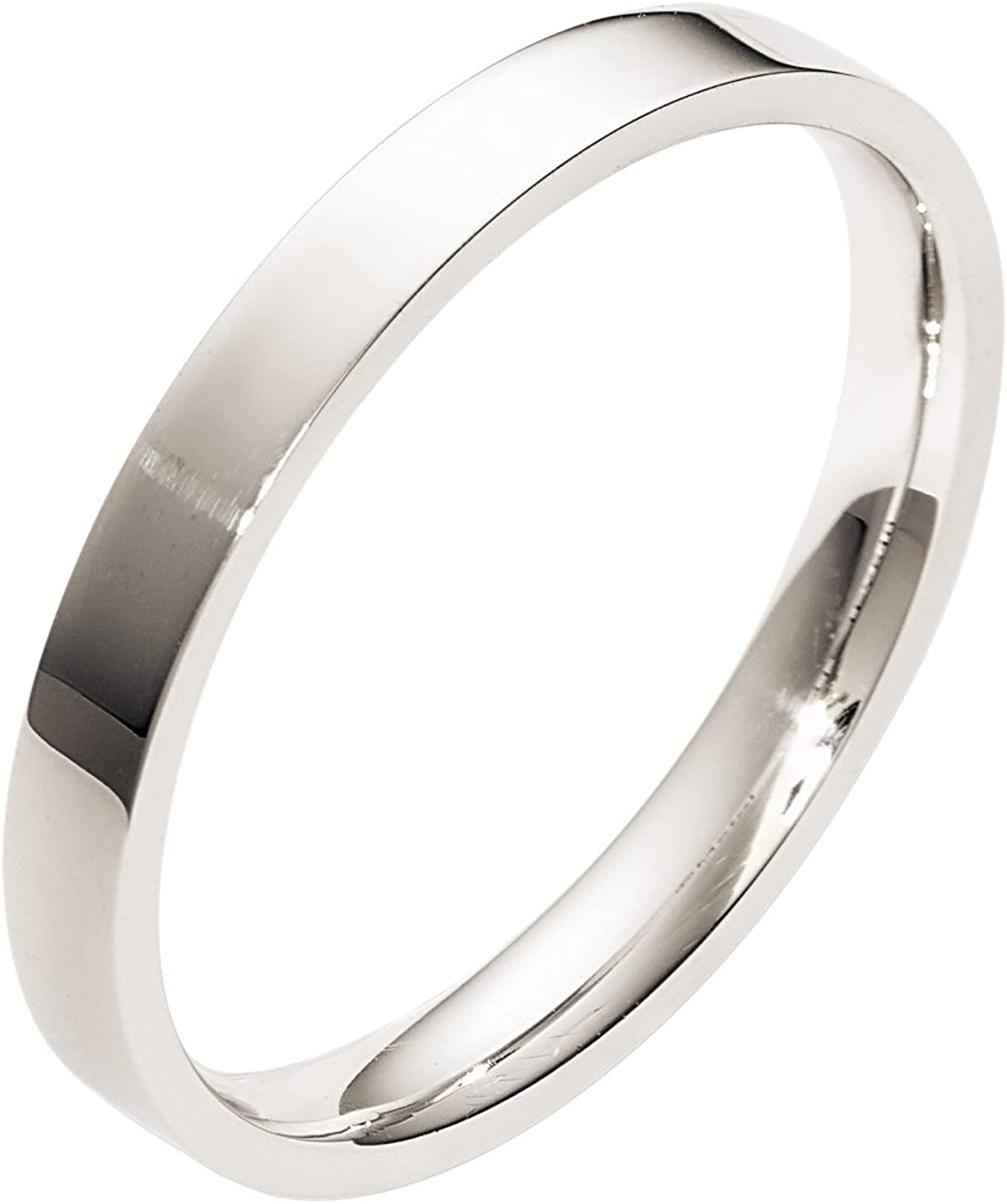 Gembrooke Creations Mens Titanium 7mm Beveled Satin Center Comfort Fit Wedding Band Ring