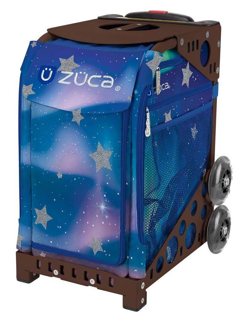 ZUCA Aurora Sport Insert Bag and Brown Frame with Flashing Wheels