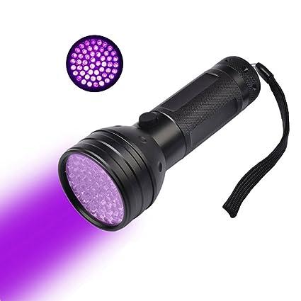 UEETEK UV 51LED Linterna Luz Negra Ultravioleta 395nm LED Luz Pet Orina Y Detector De Mancha