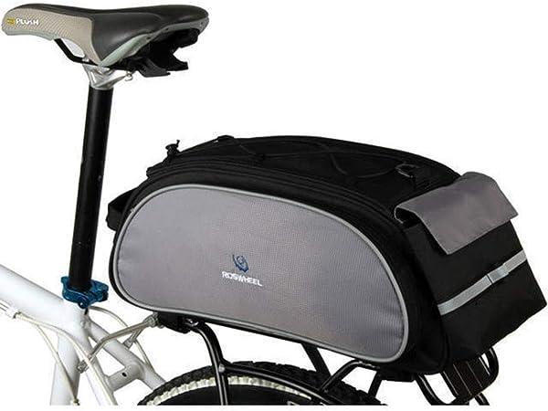 CARACHOME Alforja Bici, Bolsa De Bicicleta Multifunción 13L, Portabultos Bicicleta Ultraligera Y Plegable, Bolsa Sillin Bici con Correa Reflectante,bluegray: Amazon.es: Hogar