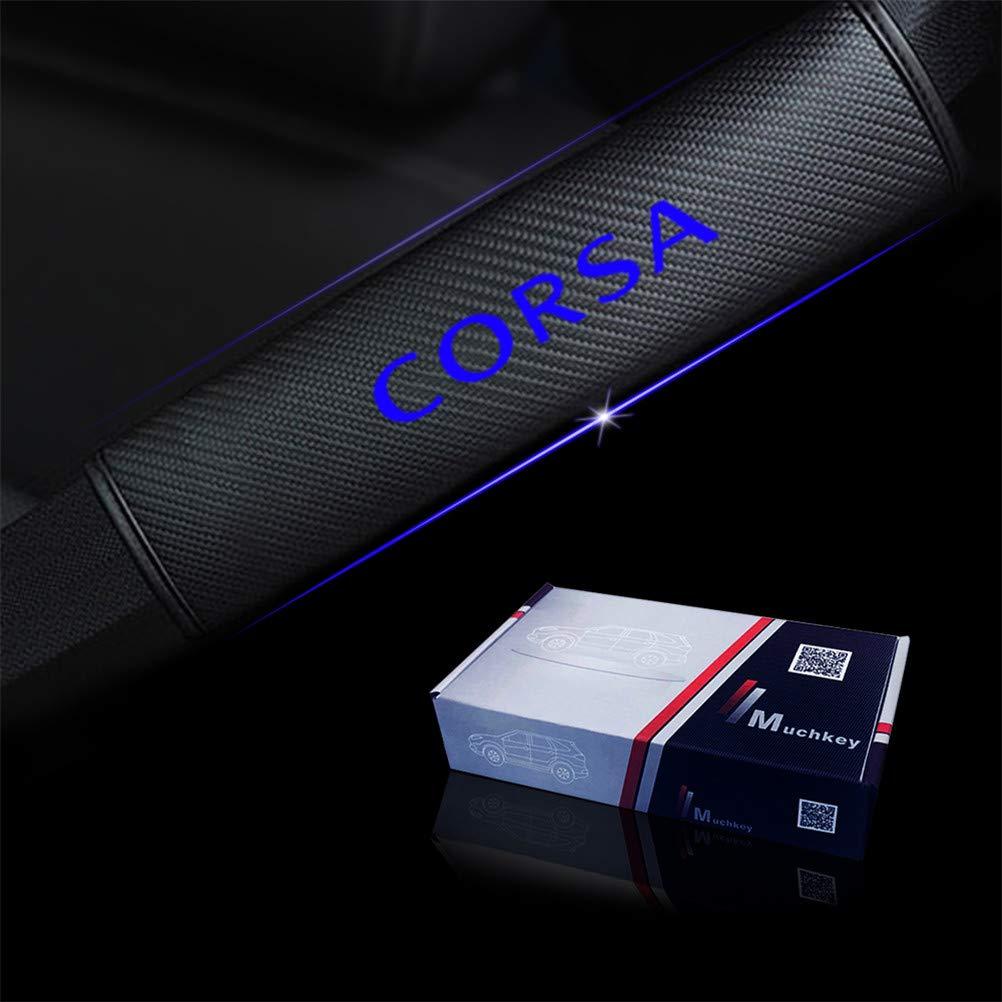 2 x Auto Gurtschutz Sicherheitsgurt Schulterpolster Schulterkissen Blau Reflektierende Sicherheit Warnung Autositze Gurtpolster Passt f/ür Corsa