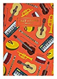 Salt X Paper A6 Colorful Thread Sewn Pocket Notebook (Musical Instruments)