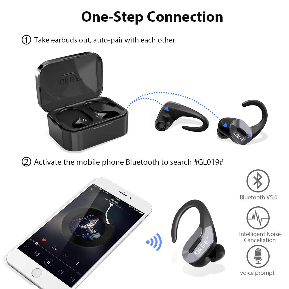 Wireless Earbuds,Bluetooth 5.0 Headphones True Wireless Earbuds [2019 Version]