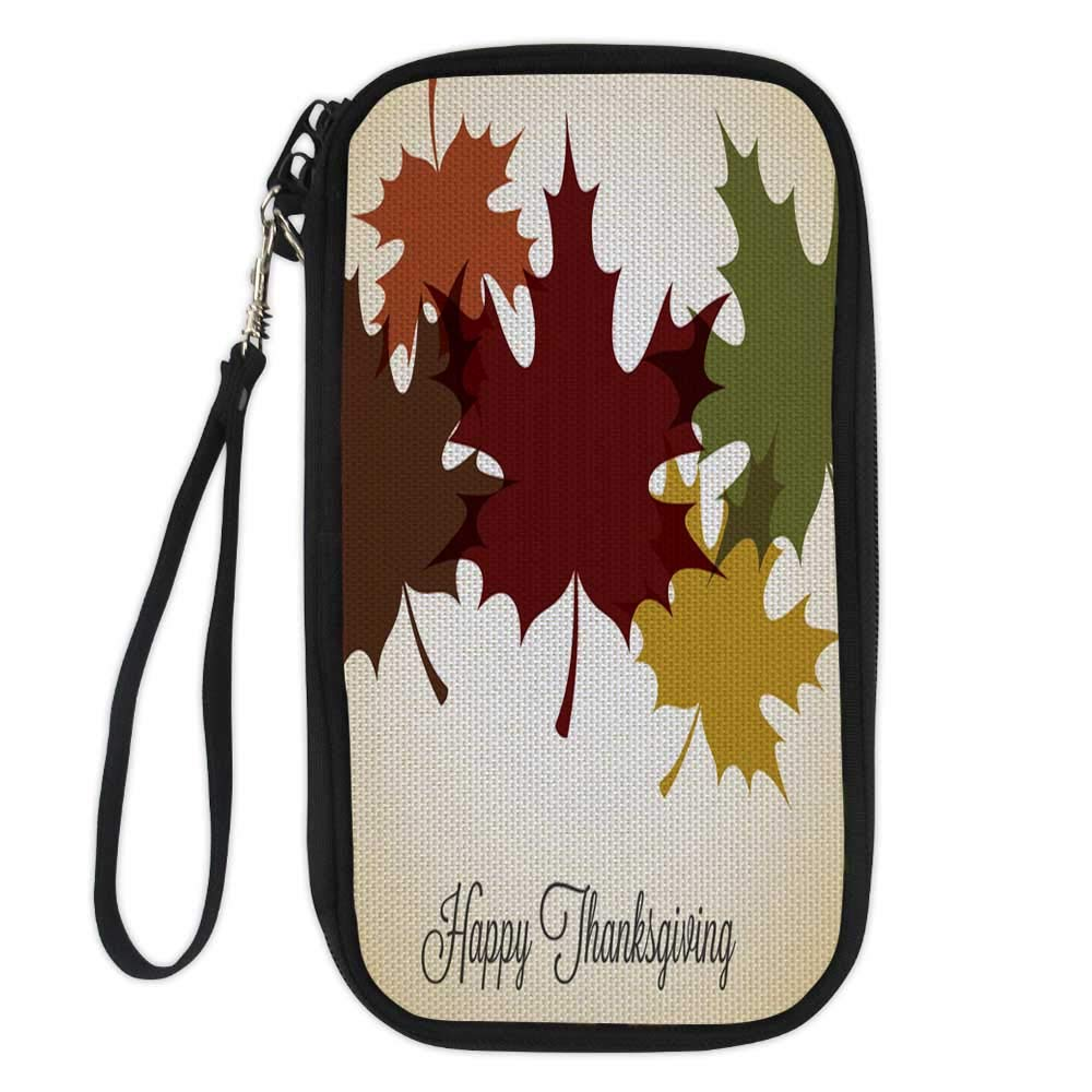 passport wallettravel wallet passport holderMaple leaf Thanksgiving card in vector format3 9.1x4.7x0.8