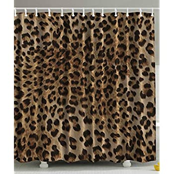 Bathroom Accessories Leopard Print Sexy Shower Curtain By Ambesonne Nearly Natural Wildlife Safari Decorations Big