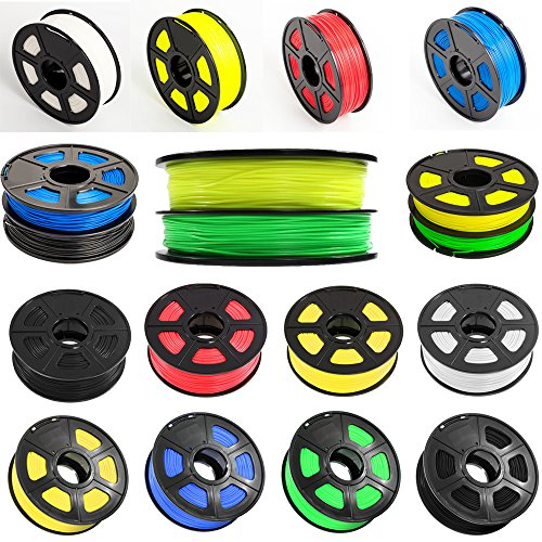 SUNLU Fil Filament pour Impression 3D ou Imprimante 3D Assortiment ABS