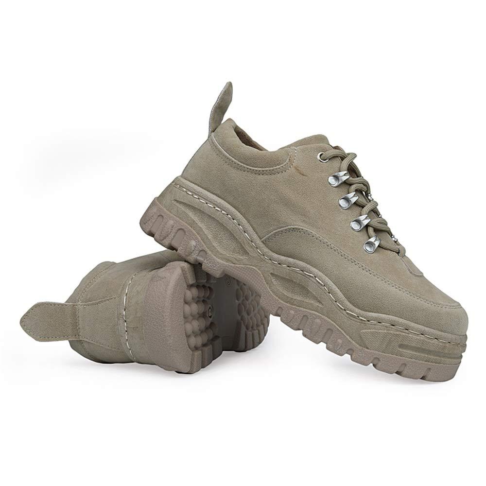 YAJIE-boots, Casuales Botas Casuales YAJIE-boots, de los Hombres contra el Tobillo de Invierno para Hombre Tacón Grueso Top Alto con Cordones Zapatos de Ocio de Color Liso (Color : Caqui, tamaño : 44 EU) 398d14