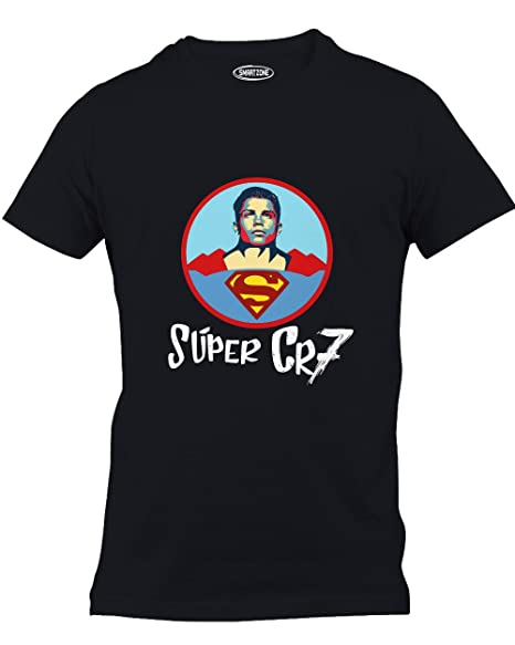 d5651929d Smart Zone Cristiano Ronaldo Super CR7 Superman Soccer Football Graphic  TShirt at Amazon Men s Clothing store