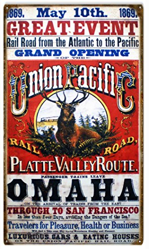 Victory Vintage Signs 1869 Great Event Grand Opening Union Pacific Railroad ()
