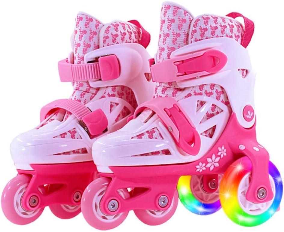 ダブル列クワッドローラーブレード - ロール靴2-11歳のために調節可能歳の赤ちゃん女の子男の子屋内と屋外のスポーツアイススケート誕生日プレゼント  Small