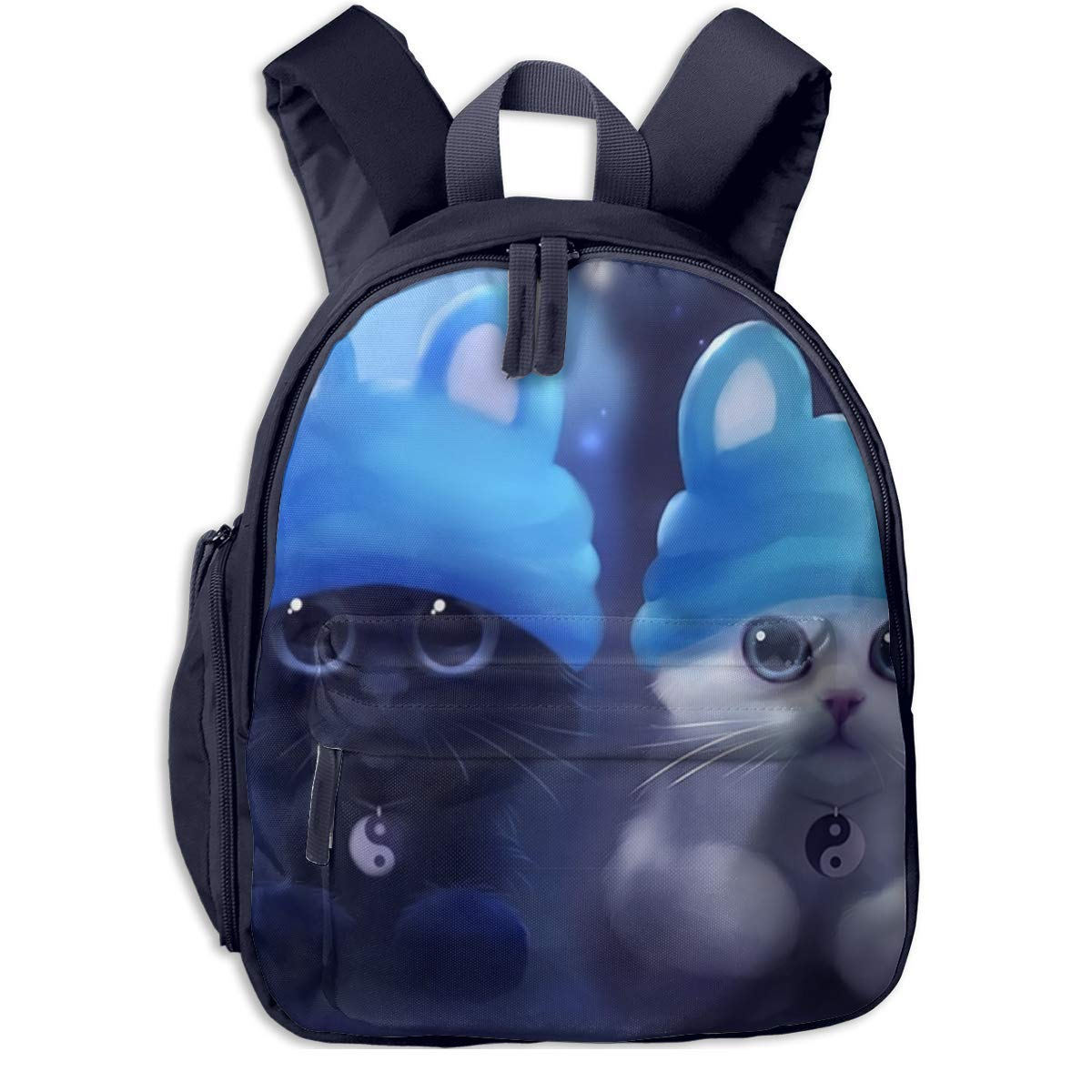 Sd4r5y3hg School Backpack for Girls Boys, Kids Cute Cute Cute schwarz and Weiß Cute Cat Cartoon Backpacks Book Bag B07M5NDDM5 Daypacks Diversifiziertes neues Design ee1529