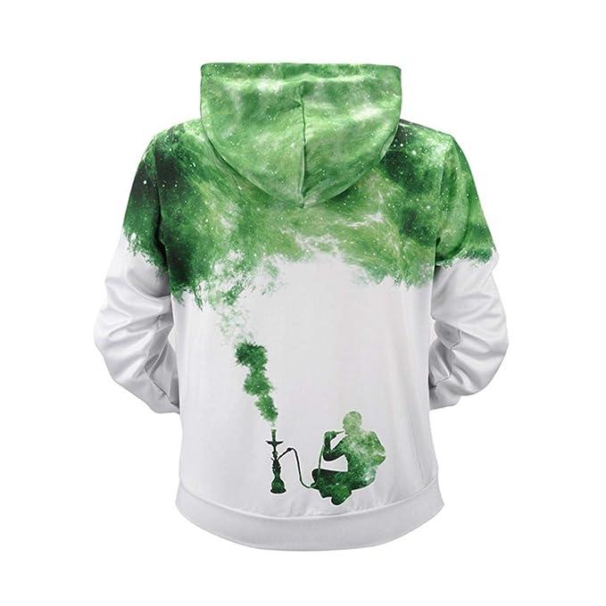 ... Unisex Colorida HD 3D ImpresióN Sudadera Capucha Manga Larga Sudadera Capucha Chaqueta con Bolsillos Estampada Camisetas: Amazon.es: Ropa y accesorios