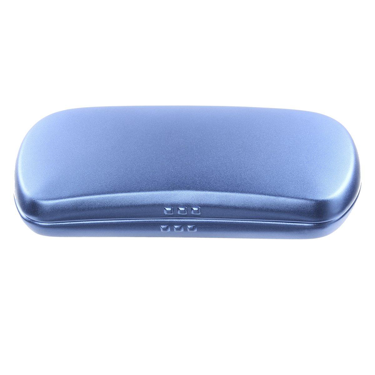 Ezeso Aluminum Eyeglasses Case Hard Shell Spectacles Box for Small and Medium Frames (D)