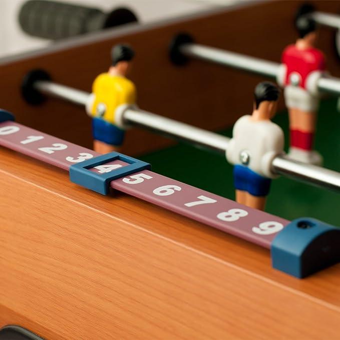 Deuba Futbolín Juego de Mesa de Madera Baby Foot Infantil para niños 18 Figuras robustas - Medidas 69 x 62 x 37 cm: Amazon.es: Juguetes y juegos