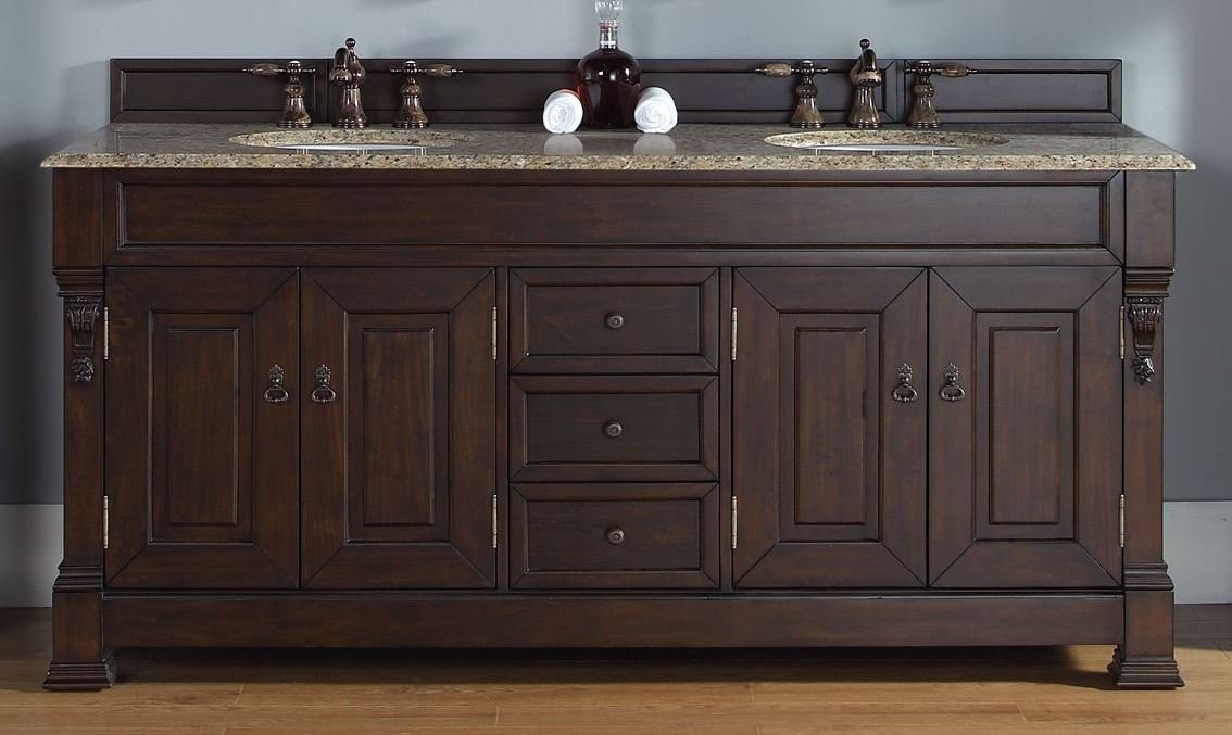 72 in. Double Vanity in Burnished Mahogany