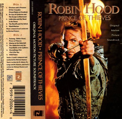 Robin Hood-Prince of Thieves.Cassette Tape.
