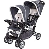 Baby Trend Sit N' Stand Convenience Easy Fold Compact Lightweight Travel Toddler & Baby Twin Double Stroller, Magnolia