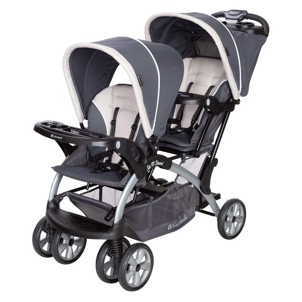 Baby Trend Sit N Stand Compact Travel Twin Baby Stroller