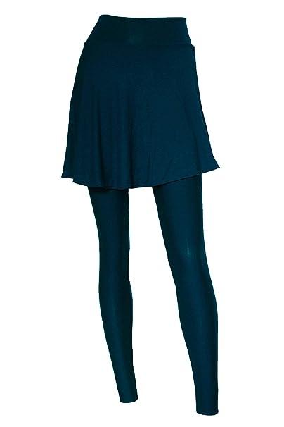 Amazon.com: E K Mallas de yoga con falda de talle alto ...