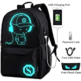 Cool Boys School Backpack Luminous School Bag Music Boy Backpack for Kids