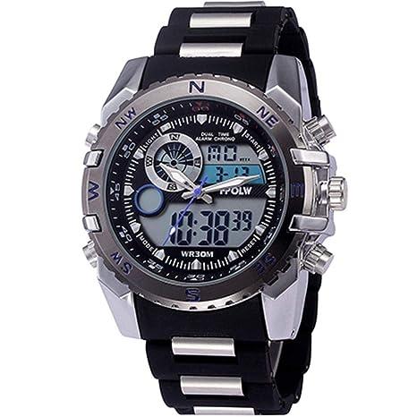 WULIFANG Nuevo Reloj Digital De Cuarzo De Hombres Mens Sports G Reloj Led Impermeable Reloj Militar