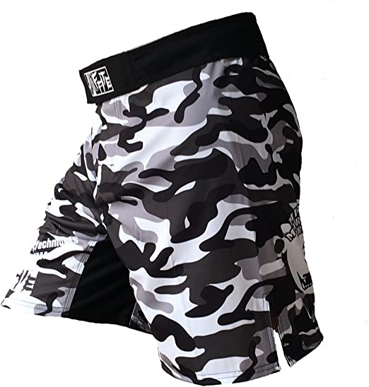 Stretch Black MMA Shorts Muay Thai Boxing Short Pants Fighting Kick Men Fight