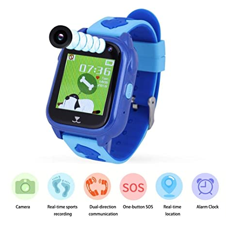 Vbestlife Reloj para Niños GPS + LBS + GPRS Podómetrocon Pantalla Táctil Teléfono SIM Anti-