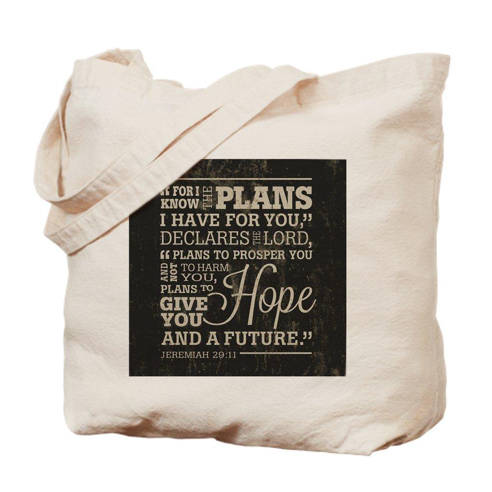 CafePress – Hope and a Future – ナチュラルキャンバストートバッグ、布ショッピングバッグ B01JOSC3NK