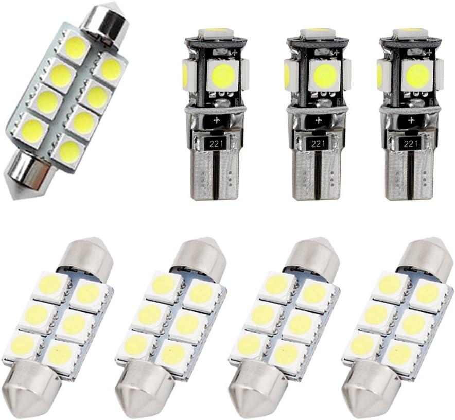 WITHOUT SUNROOF Auto Dome Bombilla Kit Blanco 3pcs Muchkey luz de interior coche Para Bora Jetta MK4