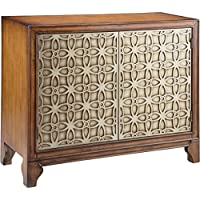 Stein World Furniture Como Cabinet, Khaki/Silvery