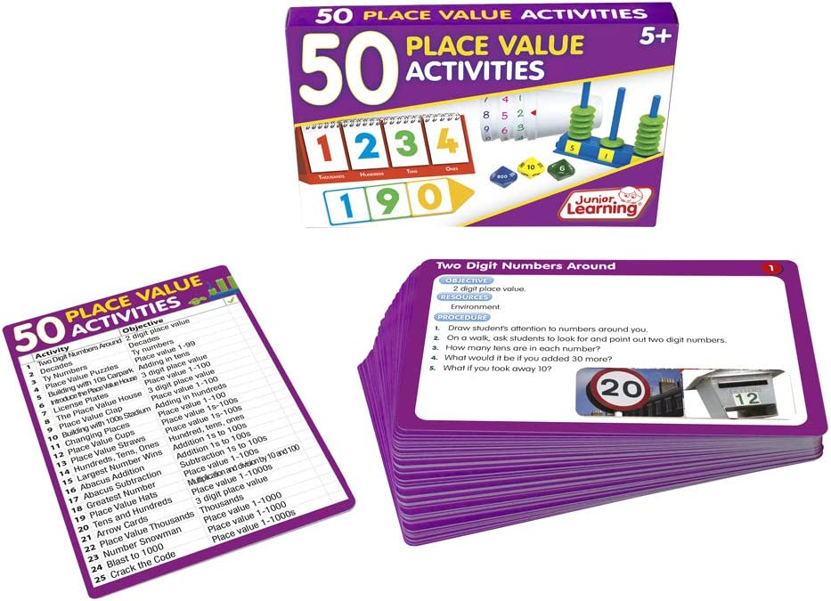 Junior Learning 50 Place Value Activities manipulative