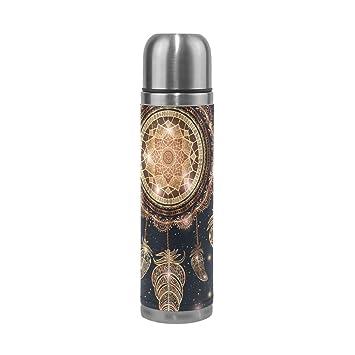 jstel talismán Atrapasueños con plumas de Magic Mandala aislado al vacío THERMOS botella de agua de ...