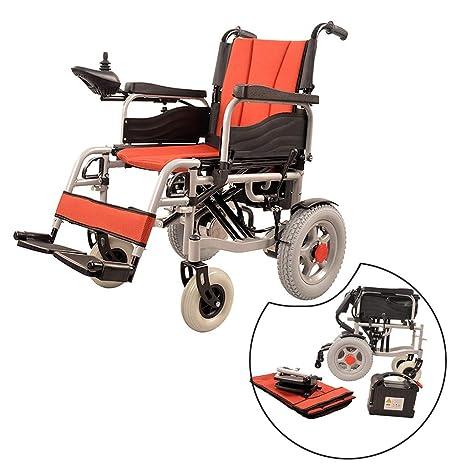 JL-Q Doble Motor Plegable Silla de Ruedas eléctrica discapacitados Ancianos 12AH Gran Capacidad de