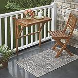 Folding Acacia Wood Balcony Table — Natural