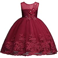 KISSOURBABY 2-9 T Little Girls Wedding Party Pageant Dress Pink