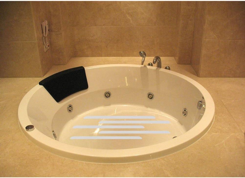 NUOLUX 12pcs anti d/érapant bandes Stickers pour salle de bain douche blanc