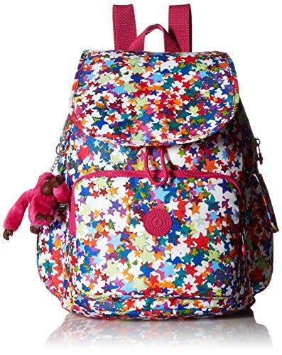 Kipling Women's Ravier Printed Backpack, Kaleidoscope Block