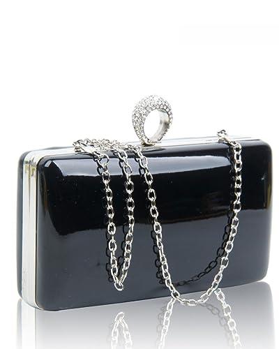 89c1772d137 SALE SALE Womens Designer Hard Case Metal Box Ladies Evening Prom Party Clutch  Bag (Black