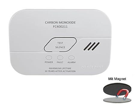 Elro – Detector de Monóxido de Carbono con Batería de 2 Años, Detector de Monóxido