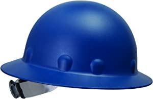 Fibre-Metal by Honeywell P1ASW71A000 Roughneck Full Brim Hard Hat with Swing Strap Reversible Ratchet Headgear, Blue
